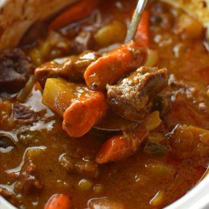 Striploin beef veg casserole rice