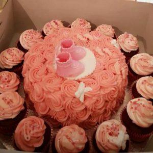 Christening cake, triple chocolate or jam sponge