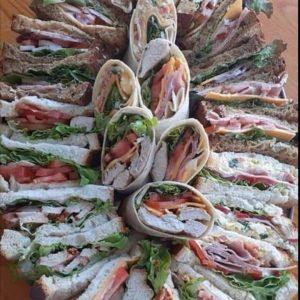 Platter on breads wraps baps