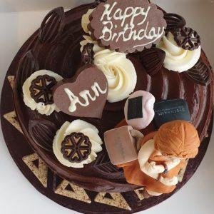 Triple chocolate cake vanilla frosting