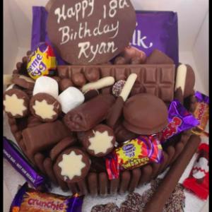 Chocolate Cadburys Explosion cake